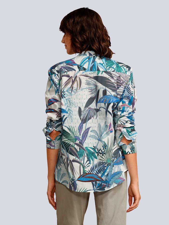 Bluse im Palmendessin
