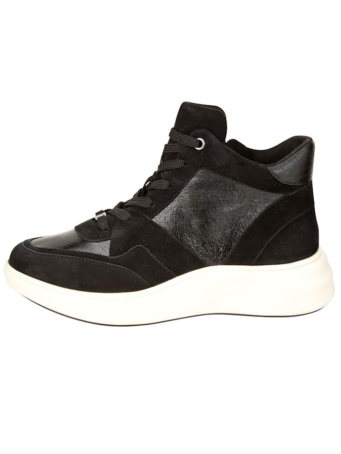 High Sneaker in tollem Ledermix