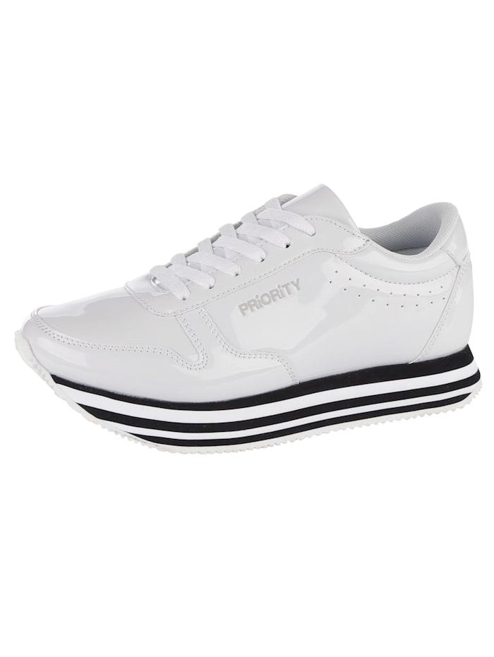 Priority Sneaker met lichte EVA-zool, Wit
