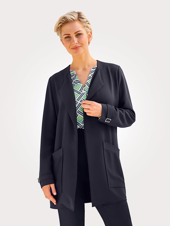 MONA Legerjacke in modisch längerer Form, Marineblau