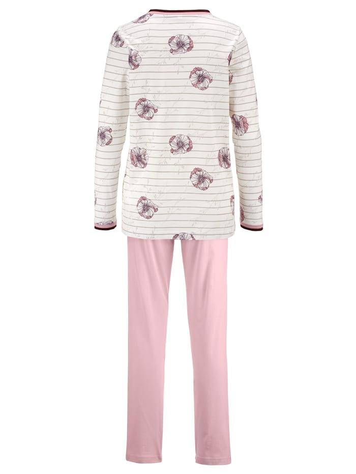 Pyjamas à passepoils bicolores