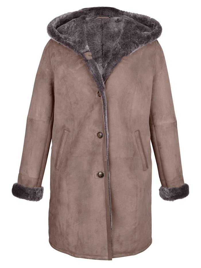 Manteau en laine d'agneau
