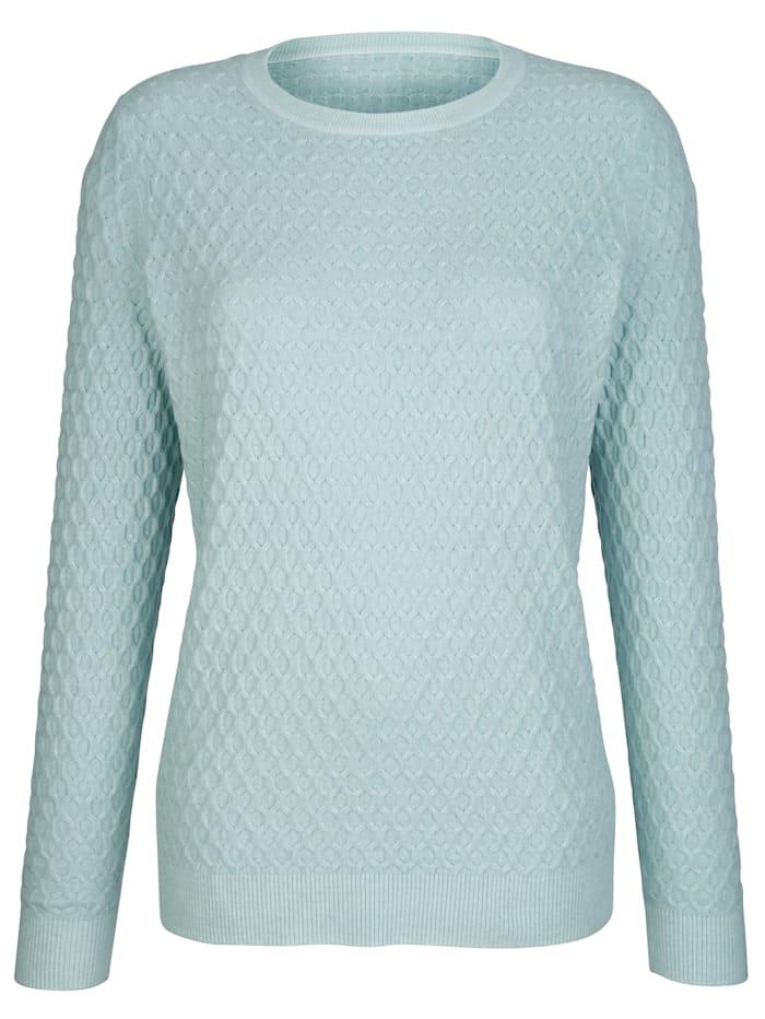 Dress In Pullover mit strukturierter Warenobfläche, Hellblau