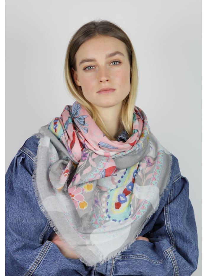 Softweiches Flower-Tuch aus Baumwolle und Modal