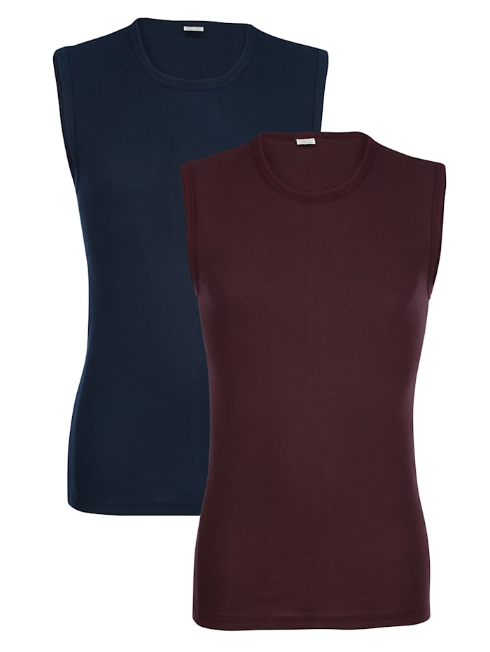 G Gregory Mouwloze shirts, Marine/Aubergine