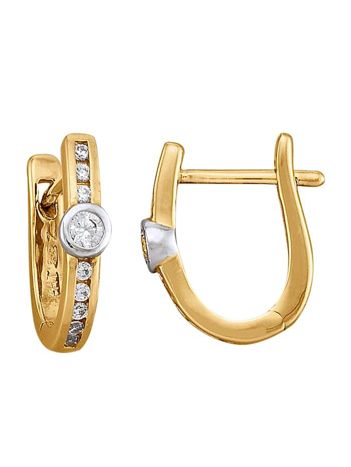 Amara Diamants Créoles avec brillants, Blanc