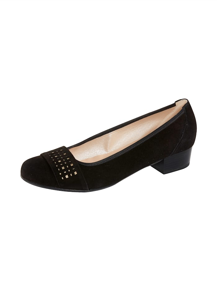 Naturläufer Court shoes with gold-tone detailing, Black