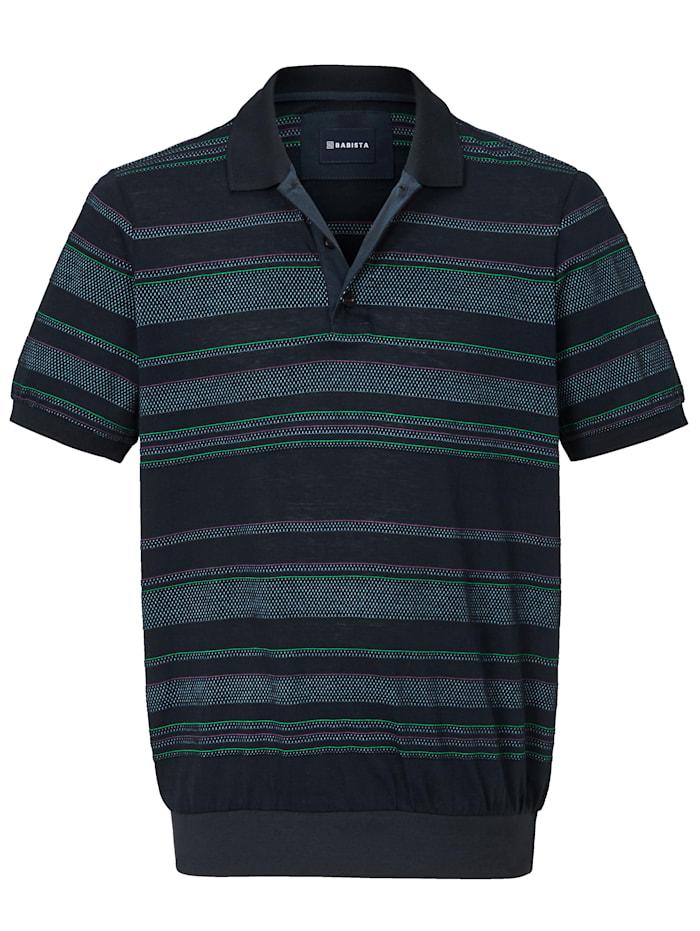 Poloshirt met ingebreid patroon