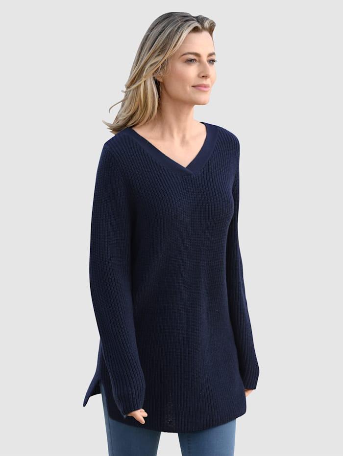 basically you Pullover in schlichter Optik, Marineblau
