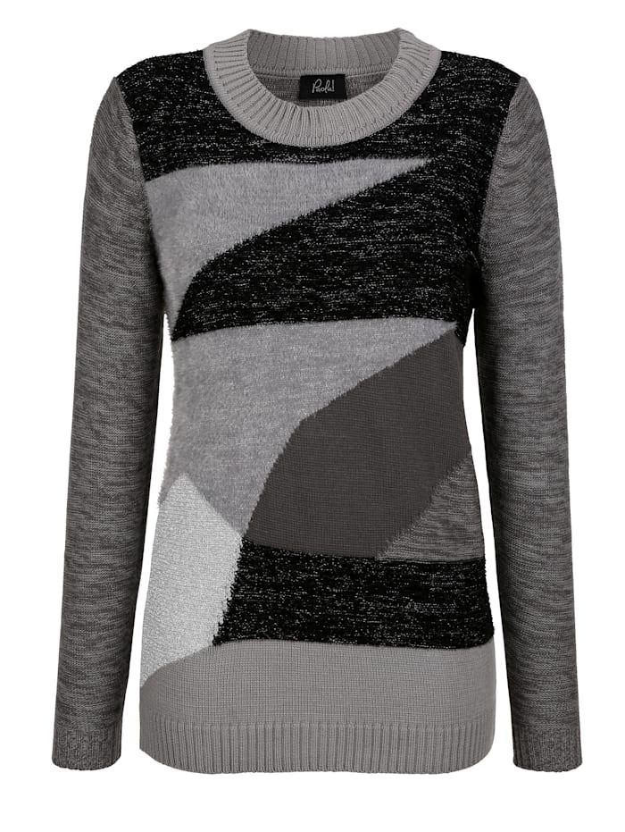Pullover im Patchwork Stil