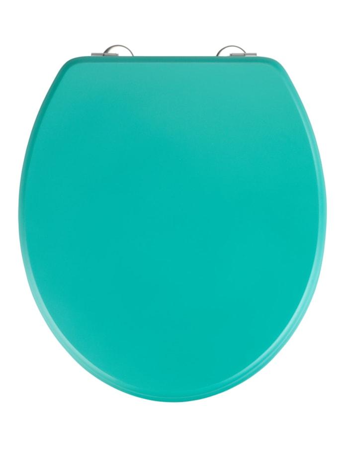 Wenko WC-Sitz Prima Grün matt, MDF, Grün, Befestigung: Silber matt