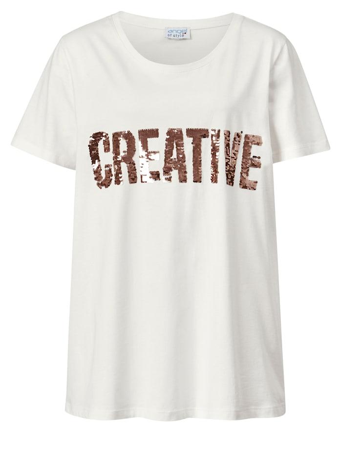 Shirt mit Paillettenschriftzug