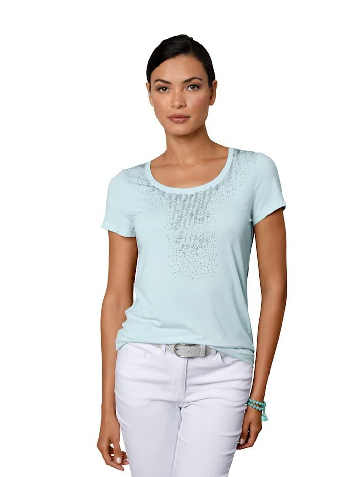 AMY VERMONT Shirt met strassteentjes, Mint