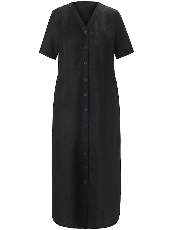 Anna Aura Abendkleid Kleid aus 100% Leinen, schwarz