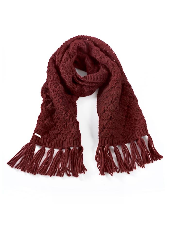 Seeberger Sjaal van warm materiaal, Bordeaux