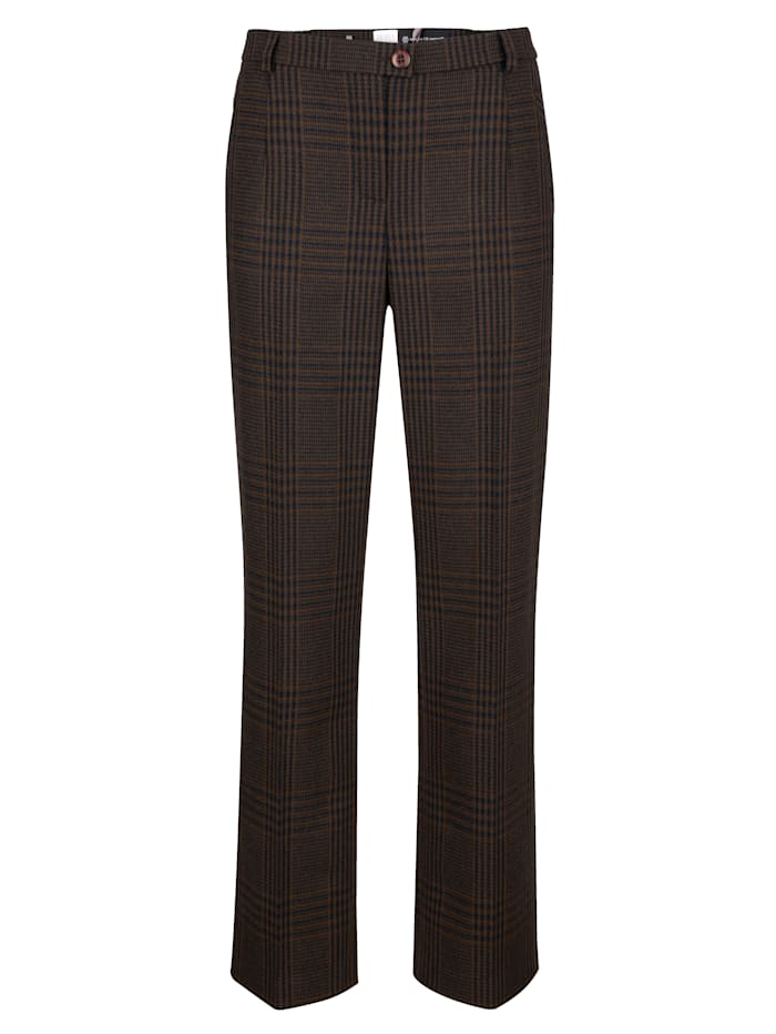 Trousers in a classic houndstooth print