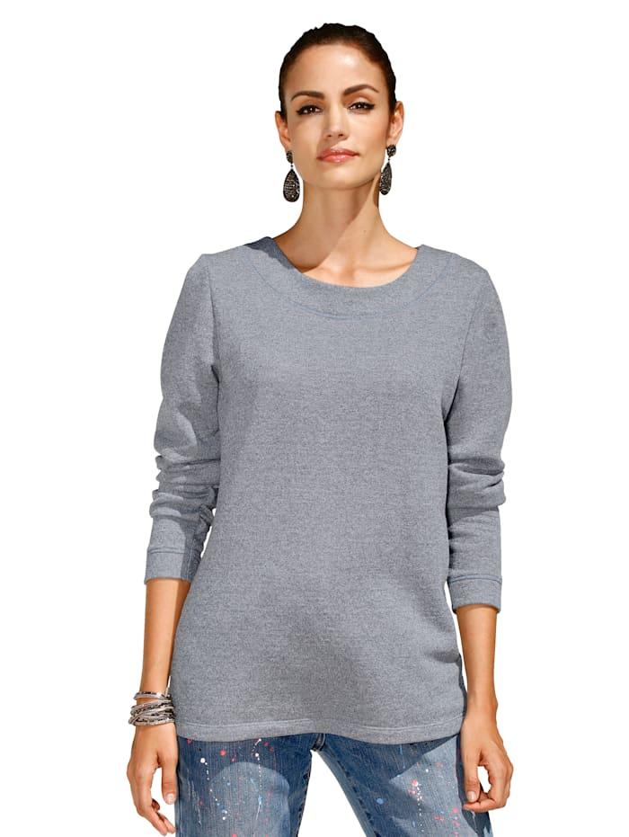 Sweatshirt mit Glanzeffekt