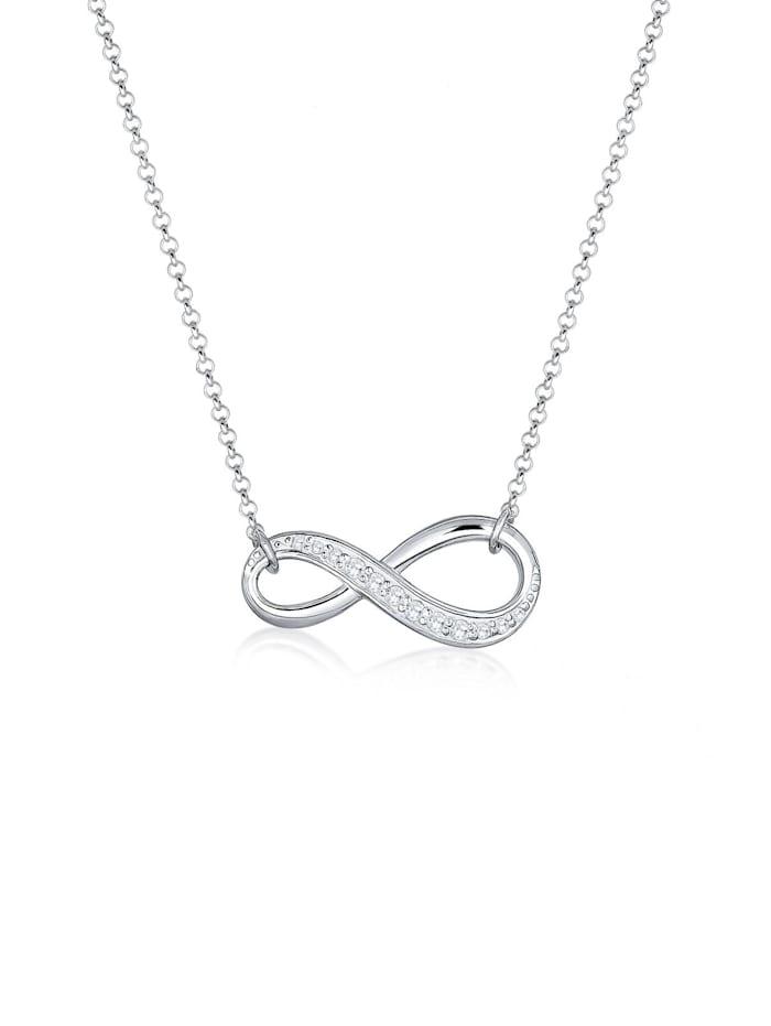 Elli Halskette Infinity Zirkonia 925 Sterling Silber, Silber