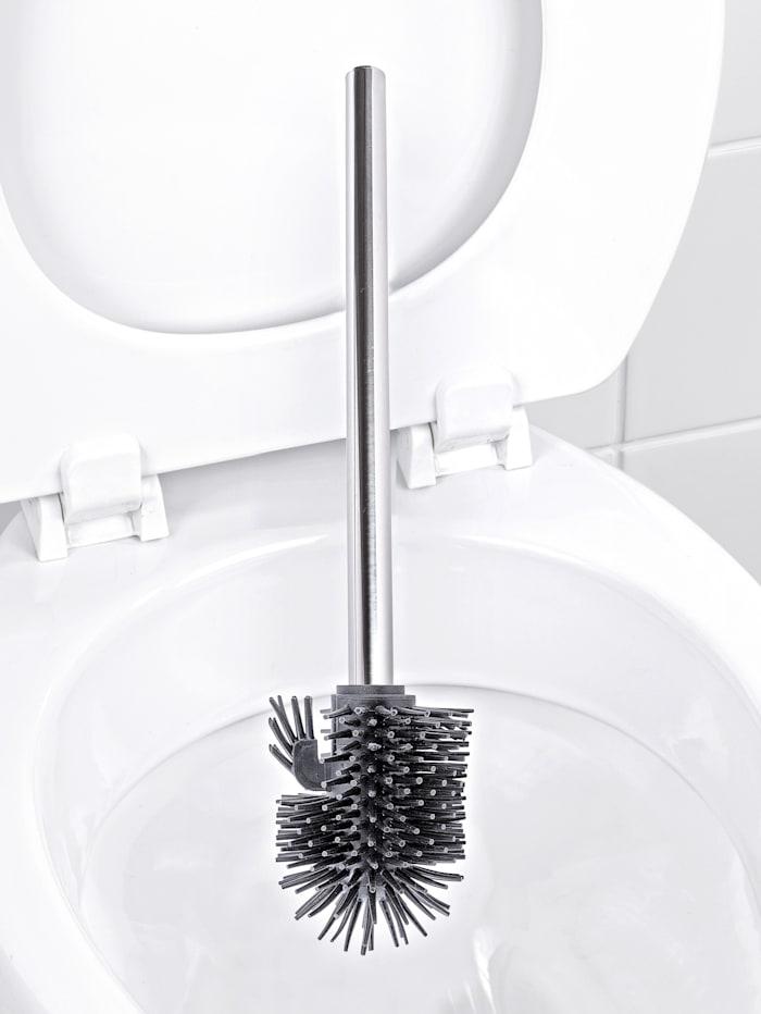 Plassbesparende WC-sett med halvrund fot