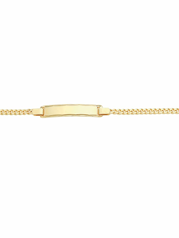 1001 Diamonds 1001 Diamonds Damen Goldschmuck 333 Gold Flach Panzer Armband 18,5 cm, gold