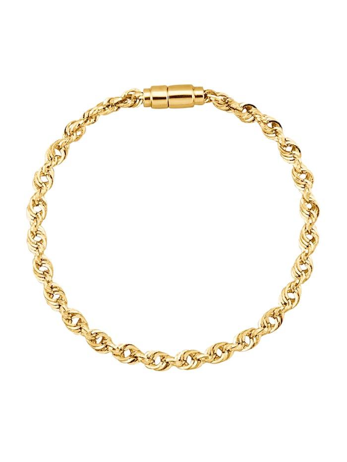 Bracelet maille corde en or jaune 375, Coloris or jaune