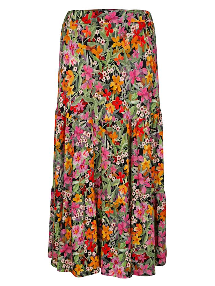 Jerseykjol med blommönster
