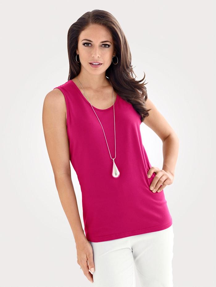 MONA Jerseytop aus Baumwolle, Pink
