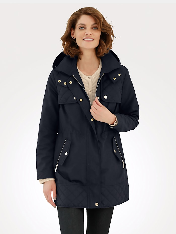 Jacket with quilted detailing