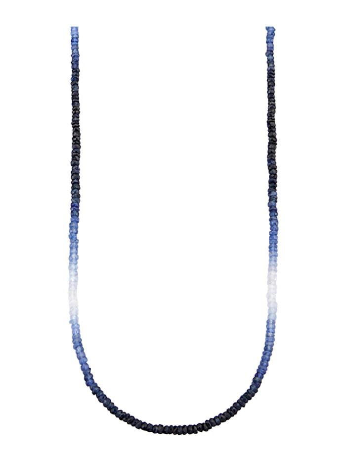 Amara Pierres colorées Collier avec saphirs multicolores, Bleu