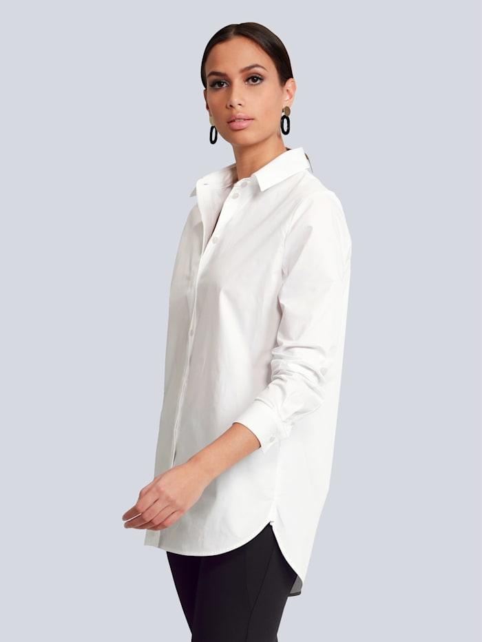 Alba Moda Chemisier de forme oversize, Blanc