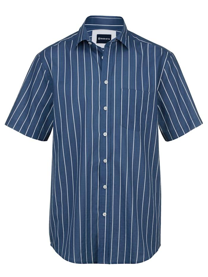 BABISTA Seersuckerhemd, Blau/Weiß
