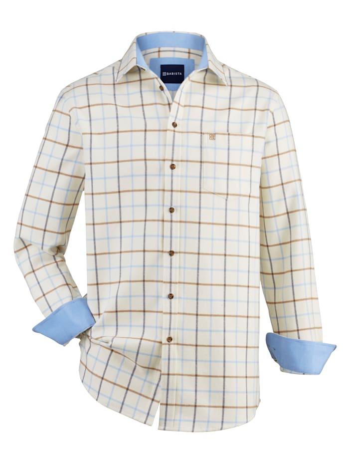 BABISTA Flanellhemd mit weichem Griff, Weiß/Blau