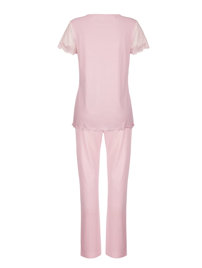 Pyjamas med spetsdetaljer