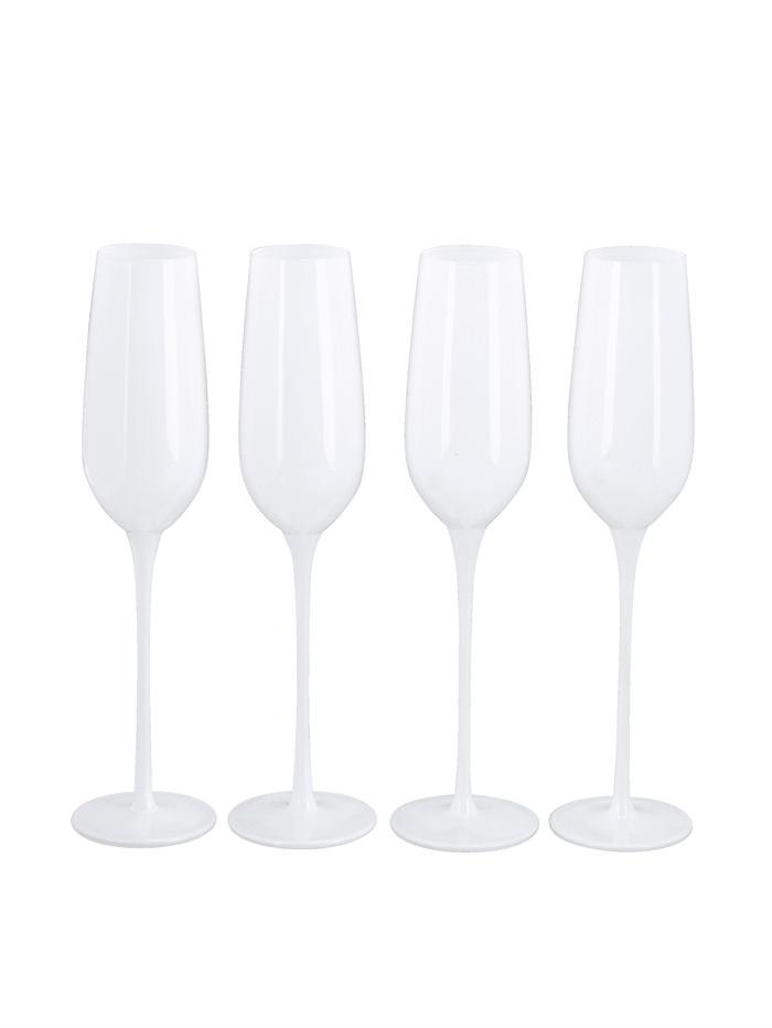 IMPRESSIONEN living Glas-Set, 4-tlg., weiß