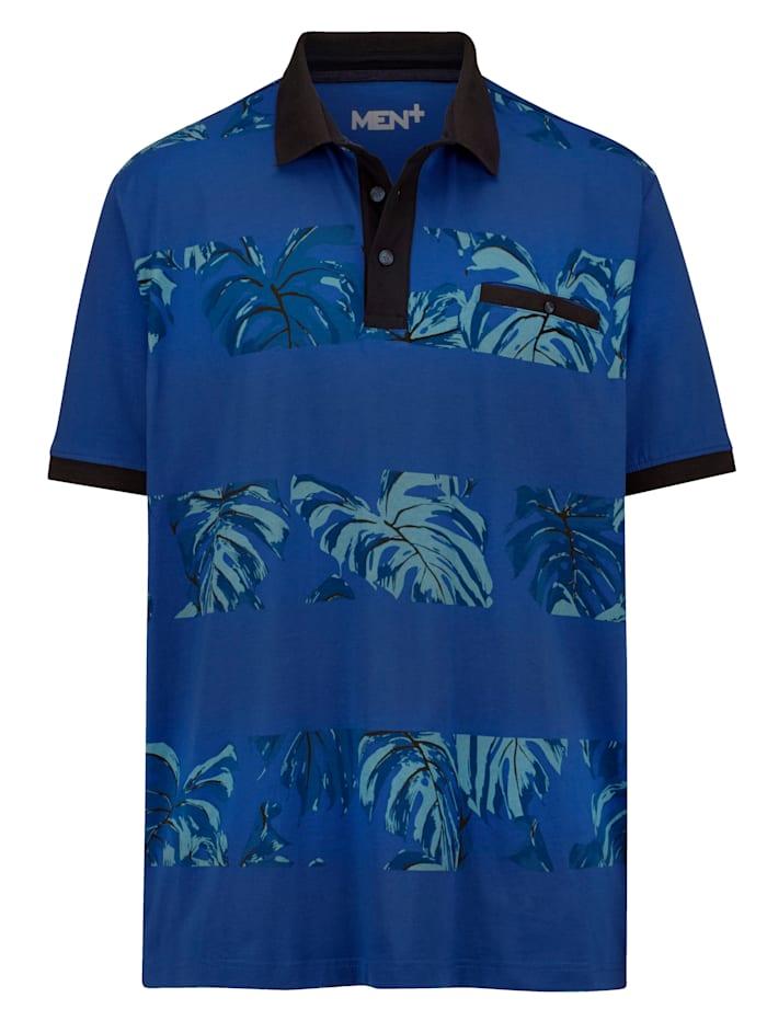 Men Plus Poloshirt en pur coton, Bleu roi