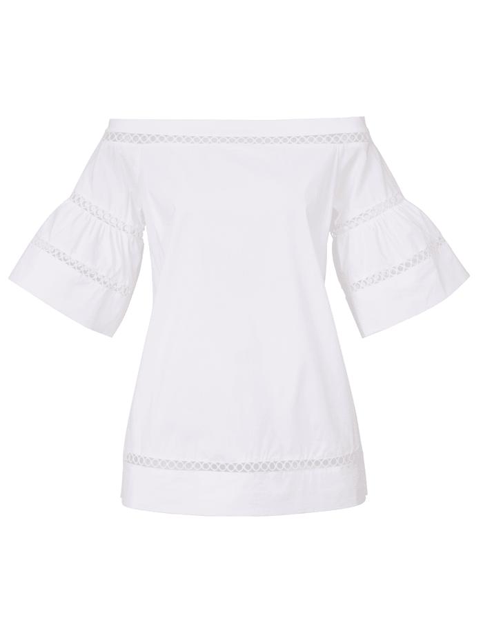 MICHAEL Michael Kors Bluse mit Bänder-Details, Weiß