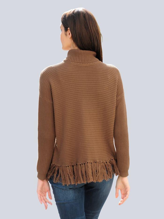 Pullover mit trendiger Fransenverarbeitung