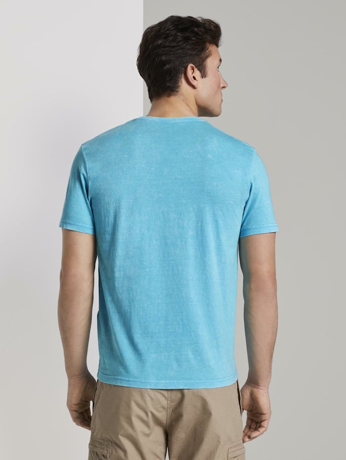 T-Shirt in Stone-Washed-Optik