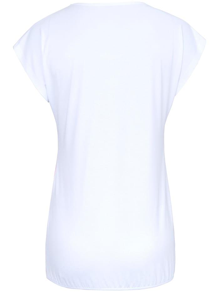 Shirt mit überschnittener Schulter .
