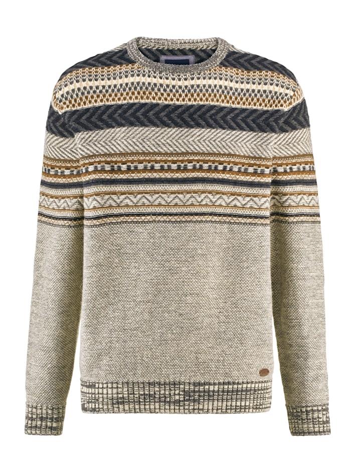 BABISTA Pullover im Norweger-Stil, Beige/Blau