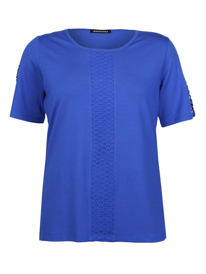 seeyou Shirt mit Ausbrenner-Muster Ausbrenner, royal