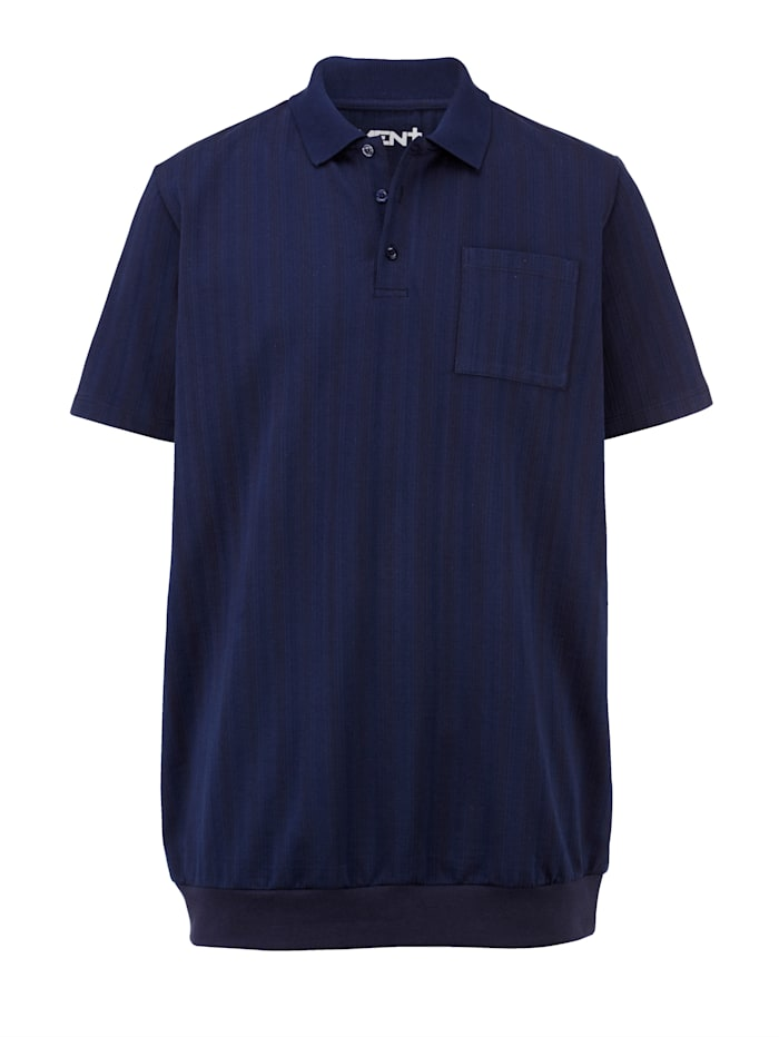 Men Plus Poloshirt Spezialschnitt, Marineblau