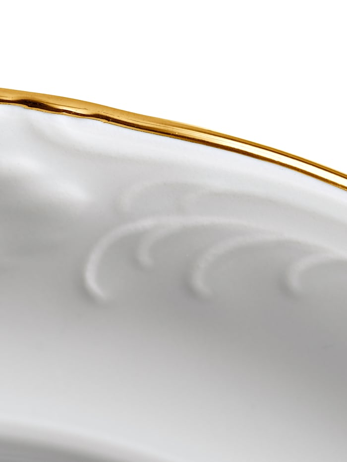Kristoff 12-delig eetservies, wit/goudkleur