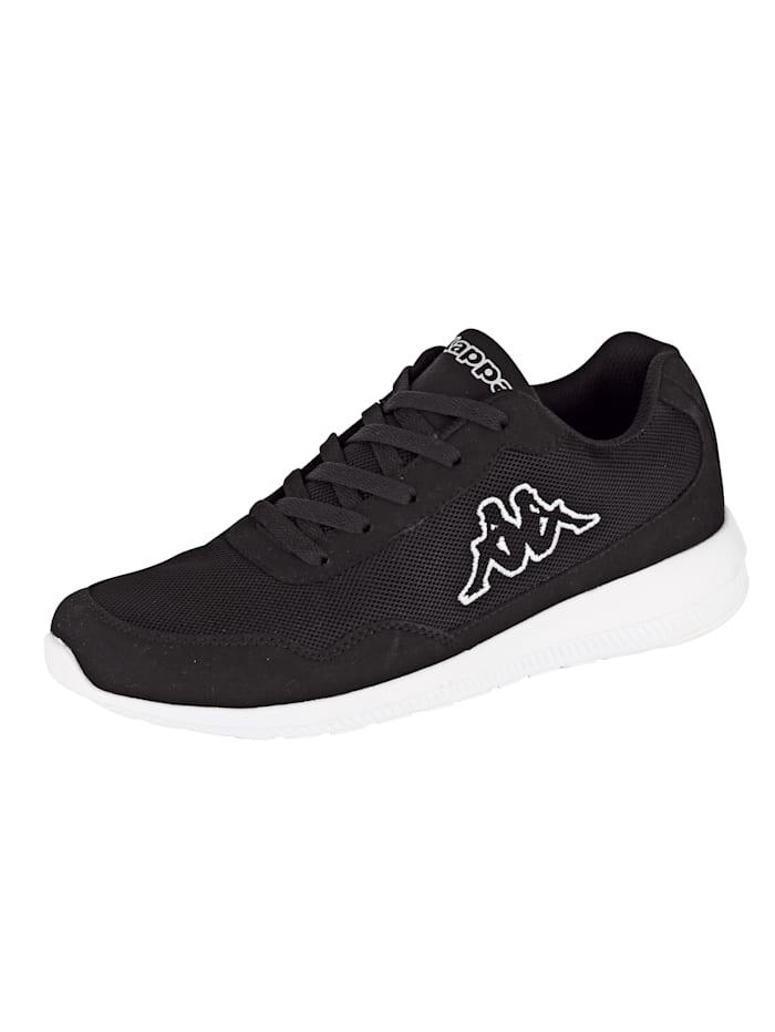 Kappa Sneaker in meshlook, Zwart
