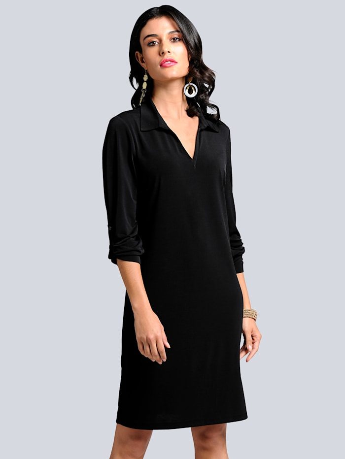 Alba Moda Kleid in trageangenehmer Jerseyqualität, Schwarz