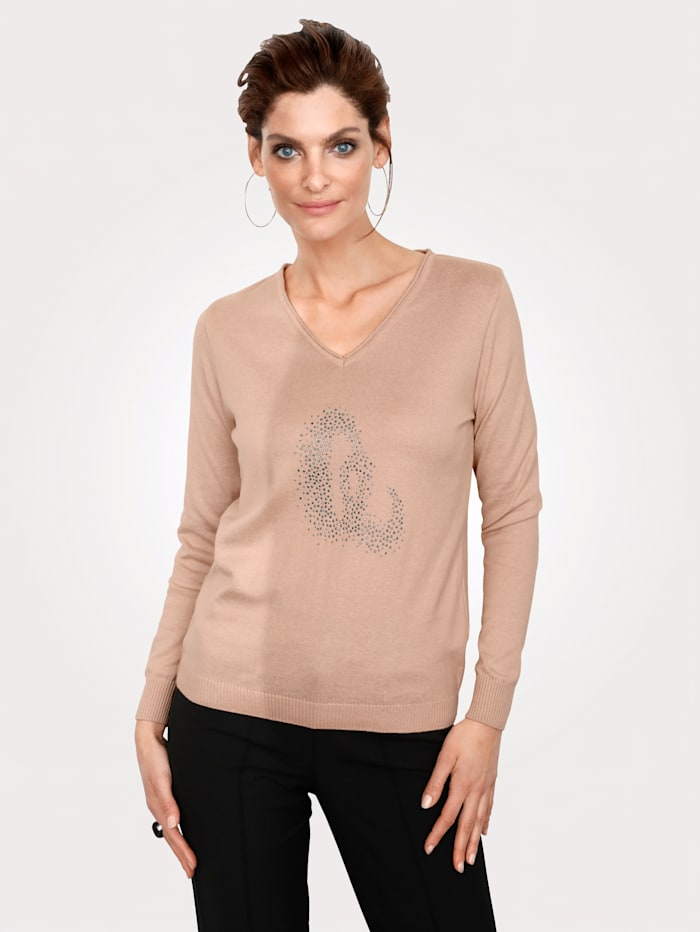 Pullover mit Strass-Steinen