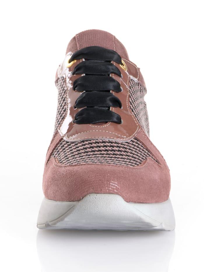 Sneaker mit Pepita-Einsatz