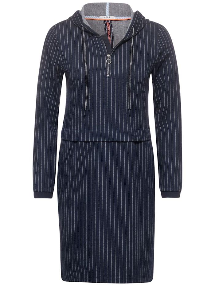 Cecil Nadelstreifen-Kleid, deep blue