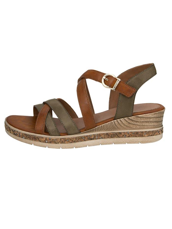 Sandaletter med klädsamma remmar