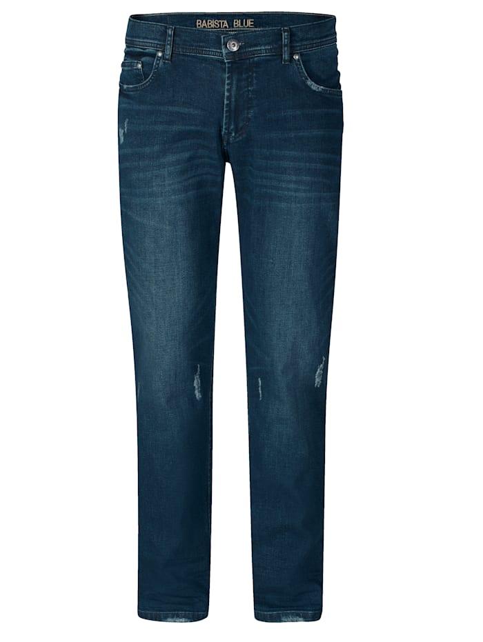 BABISTA Jeans met destroyed effecten, Blauw